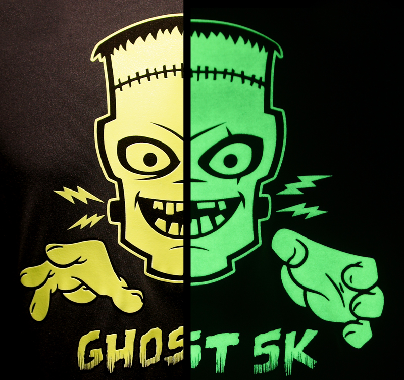 ghost 5k neon yellow glows green