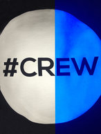 crew white glows blue