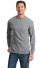 Port & Co Long Sleeve Pocket T