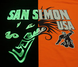 SanSimon Pale yellow glows green